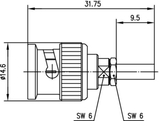 BNC-Steckverbinder Stecker, gerade 50 Ω Telegärtner J01000D1293 1 St.