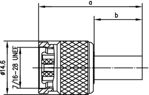 TNC-Reverse-Steckverbinder Stecker, gerade 50 Ω Telegärtner J01010R0005 1 St.