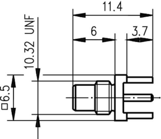 SMC-Steckverbinder Printstecker, gerade 50 Ω Telegärtner J01170A0131 1 St.