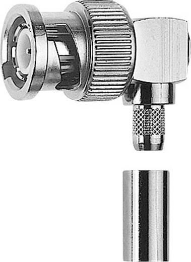 BNC-Steckverbinder Stecker, gewinkelt 75 Ω Telegärtner J01002A0021 1 St.