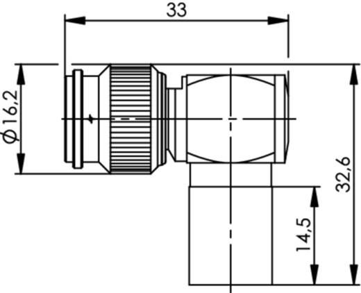 TNC-Steckverbinder Stecker, gewinkelt 50 Ω Telegärtner J01010A0065 1 St.