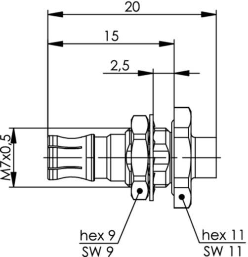 QLS-Steckverbinder Buchse, Einbau 50 Ω Telegärtner J01421A0055 1 St.