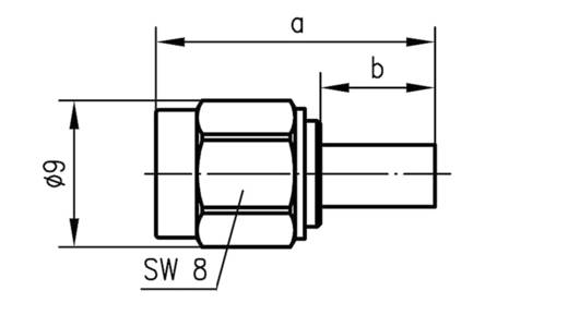 SMA-Steckverbinder Stecker, gerade 50 Ω Telegärtner J01150A0021 1 St.