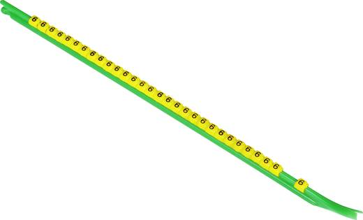 Kennzeichnungsclip Aufdruck 6 Außendurchmesser-Bereich 1 bis 1.40 mm 9-1768040-8 STD01Y-6 TE Connectivity