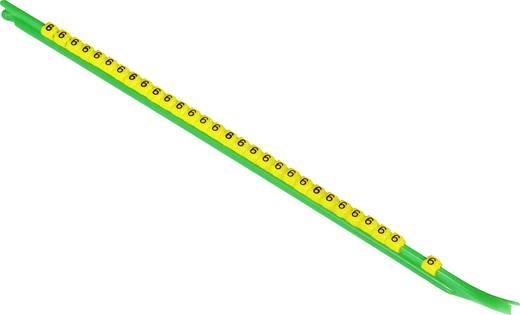 Kennzeichnungsclip Aufdruck 6 Außendurchmesser-Bereich 1.90 bis 2.65 mm 518144-000 STD03Y-6 TE Connectivity