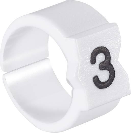 Kennzeichnungsclip Aufdruck 3 Außendurchmesser-Bereich 3.25 bis 4.50 mm 451612-000 STD09W-3 TE Connectivity