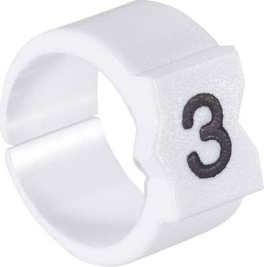 Kennzeichnungsclip Aufdruck 5 Außendurchmesser-Bereich 4.50 bis 6 mm 329976-000 STD12W-5 TE Connectivity