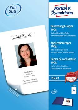 Papír do inkoustové tiskárny Avery-Zweckform 2788, A4 100 gm², 200 listů, bílá