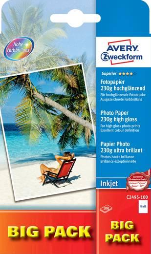 Fotopapier Avery-Zweckform Superior Photo Paper Inkjet C2495-100 10 x 15 cm 230 g/m² 100 Blatt Hochglänzend