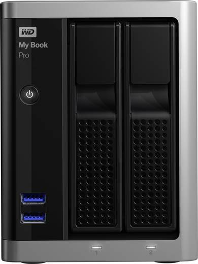 Externe Festplatte 8.9 cm (3.5 Zoll) 6 TB Western Digital My Book Pro™ Silber-Schwarz USB 3.0, Micro USB 3.0, Thunderbol