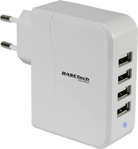 Basetech SUC-4900/4 SUC-4900/4 USB-Ladegerät Steckdose Ausgangsstrom (max.) 4900 mA 4 x USB