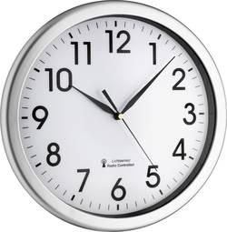 DCF nástěnné hodiny TFA 60.3519.02, (Ø x h) 30,8 x 4,3 cm, stříbrná