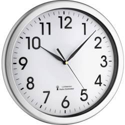 DCF nástenné hodiny TFA Dostmann Corona 60.3519.02 , vonkajší Ø 30.8 cm, strieborná