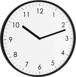 Quartz nástěnné hodiny TFA Wanduhr 60.3026.01, vnější Ø 25.5 cm, černá