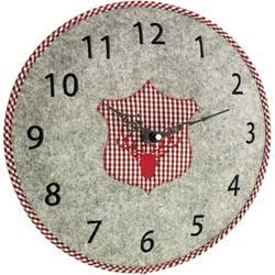 Quartz nástenné hodiny TFA Dostmann Filz-Wanduhr 60.3025.10, vonkajší Ø 330 mm, sivá
