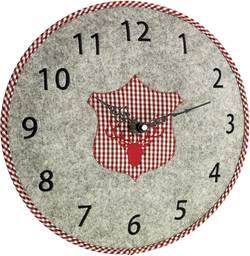 Quartz nástěnné hodiny TFA Filz-Wanduhr 60.3025.10, vnější Ø 330 mm, šedá