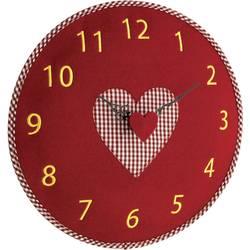 Quartz nástenné hodiny TFA Dostmann Filz-Wanduhr 60.3025.05, vonkajší Ø 330 mm, červená