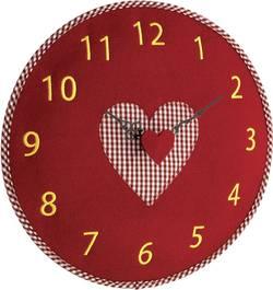 Quartz nástěnné hodiny TFA Filz-Wanduhr 60.3025.05, vnější Ø 330 mm, červená