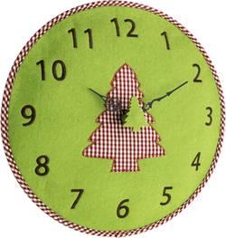 Quartz nástěnné hodiny TFA Filz-Wanduhr 60.3025.04, vnější Ø 330 mm, zelená