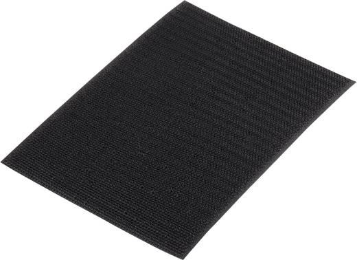 Klettband zum Aufkleben Haftteil (L x B) 500 mm x 100 mm Schwarz Basetech 98001c374 1 St.