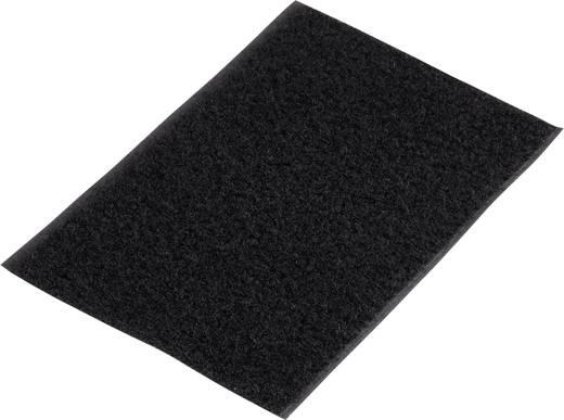 Klettband zum Aufkleben Flauschteil (L x B) 500 mm x 100 mm Schwarz Basetech 98001c375 1 St.