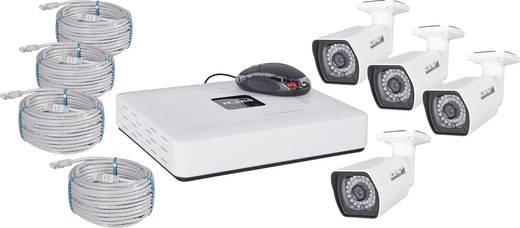 lan ip berwachungskamera set 4 kanal mit 4 kameras 1280 x 720 pixel kt 2204. Black Bedroom Furniture Sets. Home Design Ideas
