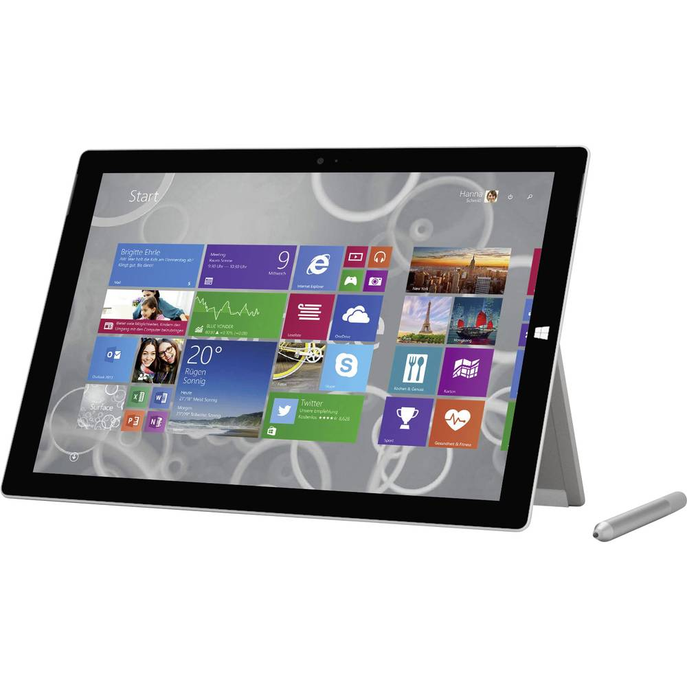 microsoft surface pro 3 windows tablet 30 5 cm 12 zoll 256 gb wi fi schwarz intel core i5 1 9. Black Bedroom Furniture Sets. Home Design Ideas