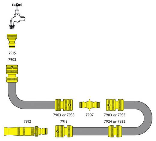 """Messing Hahnanschluss 15,875 mm (5/8"""") IG, Steckkupplung C.K. G7915 62"""