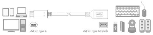LogiLink USB Adapter [1x USB-C™ Stecker - 1x USB 3.0 Buchse A] CU0098