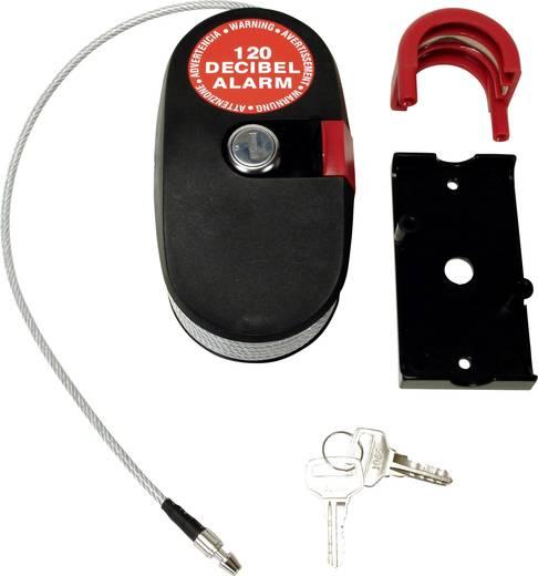 Kabelschloss 2.4 m mit Sirene Lock Alarm 6796 Schwarz/Silber Schlüsselschloss