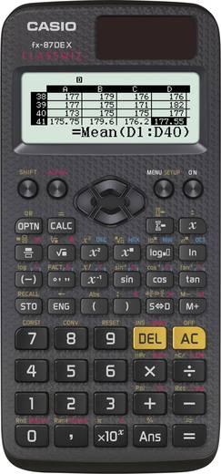 Schulrechner Casio fx-87DE X CLASSWIZ Schwarz Display (Stellen): 16 solarbetrieben, batteriebetrieben (B x H x T) 77 x 1