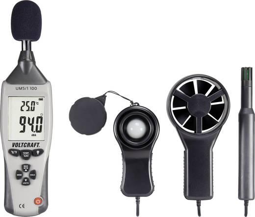 VOLTCRAFT UM5/1 100 Temperatur-Messgerät -40 bis +70 °C Fühler-Typ K Multifunktions-Umweltmessgerät 5in1 Kalibriert nach
