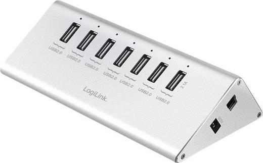 LogiLink UA0225 7 Port USB 2.0-Hub Silber