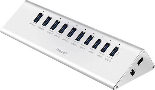 LogiLink UA0229 10 Port USB 3.0-Hub Silber