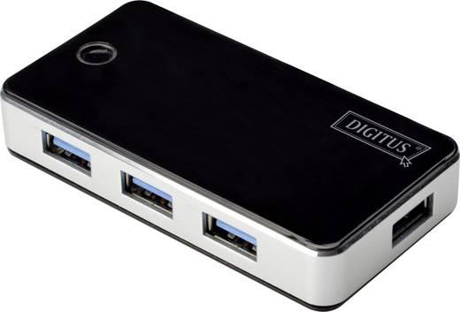 Digitus DA-70231 4 Port USB 3.0-Hub Schwarz/Silber
