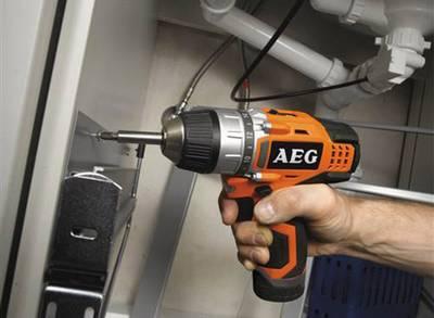 Trapano avvitatore a batteria AEG Powertools JP 12 C 12 V 1.5 Ah Li-Ion incl. seconda batteria, incl. Multiutensile a ba