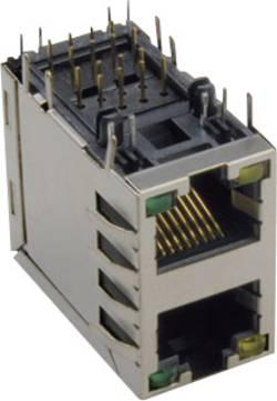 Embase femelle RJ45 2 x 8P8C TRU COMPONENTS 1582446 argent 1 pc(s)