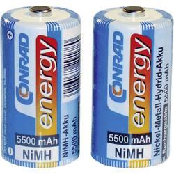 Akumulátor malé mono C Ni-MH Conrad energy HR14, 5500 mAh, 1.2 V 2 ks