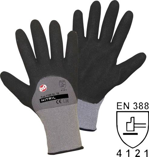Nylon Arbeitshandschuh Größe (Handschuhe): 9, L EN 388 CAT II L+D worky Nitril Double Grip 1168 1 Paar