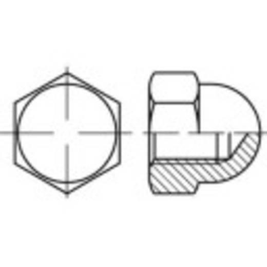 Sechskant-Hutmuttern M4 DIN 1587 Stahl galvanisch verchromt 100 St. TOOLCRAFT 137193
