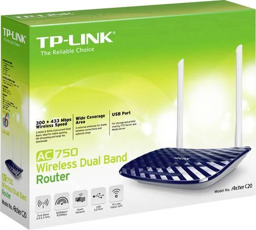TP-LINK Archer C20 WLAN Router 2.4 GHz, 5 GHz 750 MBit/s