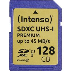 SDXC karta, 128 GB, Intenso Premium, Class 10, UHS-I