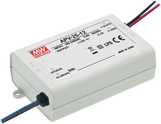 Mean Well APV-25-12 LED-Trafo Konstantspannung 25 W 0 - 2.1 A 12 V/DC nicht dimmbar, Überlastschutz