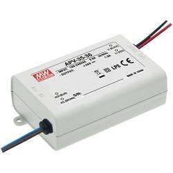 Napájací zdroj pre LED konštantné napätie Mean Well APV-35-24, 36 W (max), 0 - 1.5 A, 24 V/DC