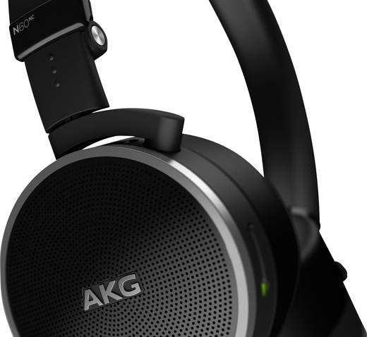 Reise Kopfhörer, AKG Harman N60NC, On Ear, Headset, Noise Cancelling, Schwarz