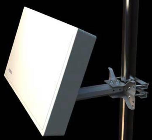 Humax Flachantenne H38D4-Quad SAT Antenne Weiß