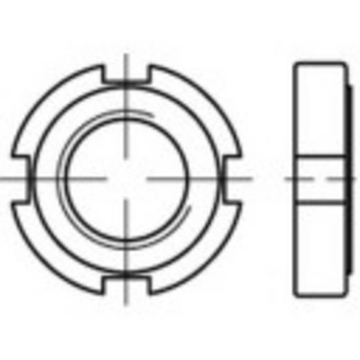 Nutmuttern M80 DIN 1804 Stahl 1 St. TOOLCRAFT 137250