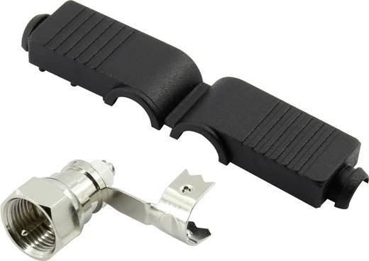 F-Stecker gewinkelt Kabel-Durchmesser: 5 mm