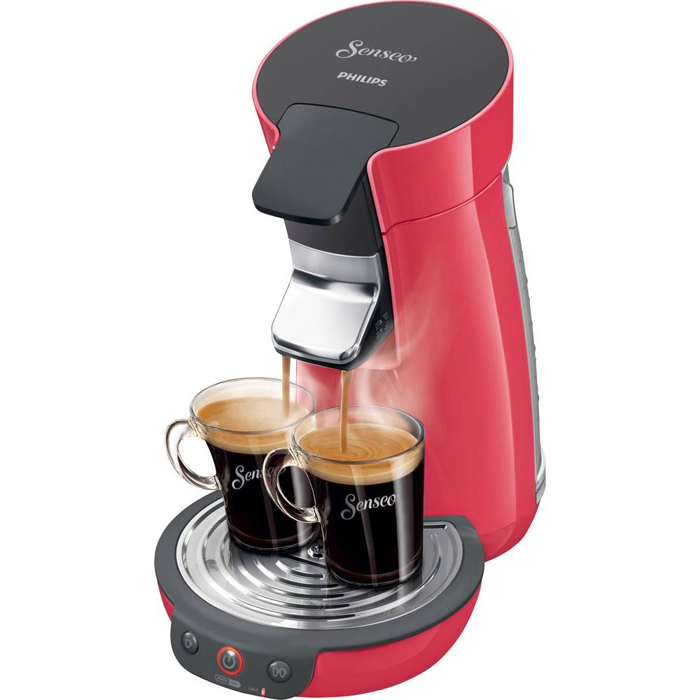 senseo viva cafe kirschrot hd7825 82 pod coffee machine cherry red from