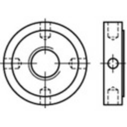 TOOLCRAFT 137262 Kreuzlochmuttern M20 DIN 1816 Stahl 10 St.